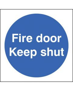 Fire door keep shut Photoluminescent 80x80