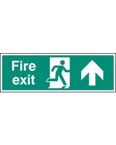 Fire exit - straight on Photoluminescent 450x150