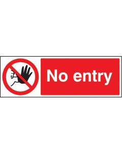 No entry Rigid Plastic 200x150