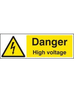 Danger high voltage Rigid Plastic 300x100