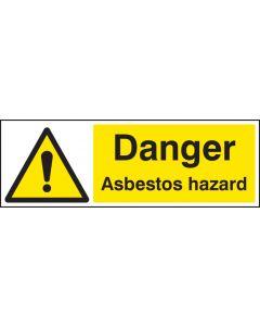 Danger asbestos hazard Rigid Plastic 600x200