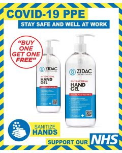 ANTI-BACTERIAL HAND GEL 500ML BOTTLE - BOGOF