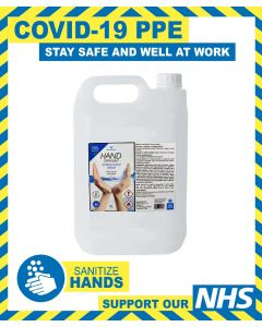 ALCOHOL LIQUID HAND SANITISER 5L - 70% ALCOHOL