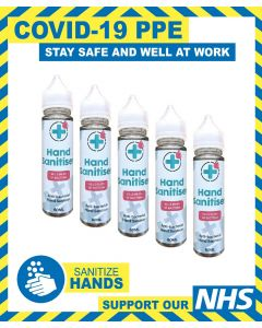 Hand Sanitiser 75% Alcohol Based 60ml, Kills 99.9% Bacteria