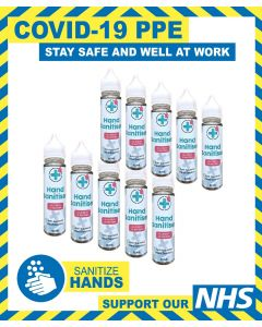 Hand Sanitiser 75% Alcohol Based 60ml - PACK OF 10