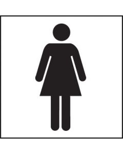 Ladies symbol Rigid Plastic 200x200