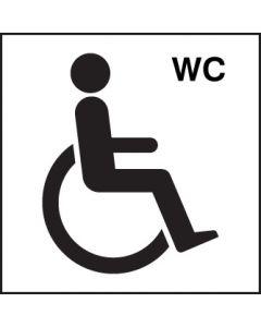 Disabled wc symbol Rigid Plastic 200x200