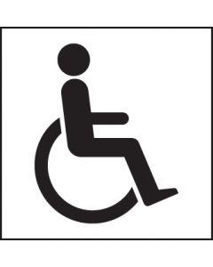 Disabled symbol Rigid Plastic 200x200