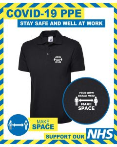 MAKE SPACE POLO SHIRT WITH BRANDED LOGO DESIGN