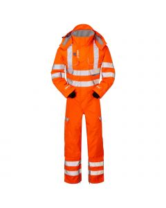 PULSARAIL PR505 GO/RT HI VIS COVERALL UNLINED WATERPROOF & BREATABLE