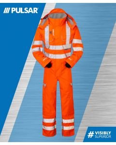 PULSARAIL PR505 GO/RT HI-VIS COVERALL UNLINED WATERPROOF & BREATHABLE