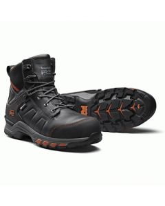 TIMBERLAND PRO HYPERCHARGE LEATHER BOOT - BLACK/ORANGE
