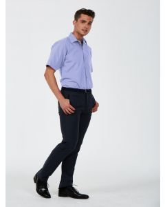 Uneek Men's Short Sleeve Poplin Tailored Fit Shirt