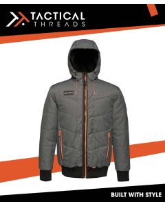 INSULATED BOMBER JACKET - SEAL GREY