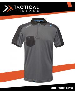 MOISTURE WICKING POLO SHIRT - SEAL GREY