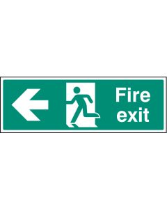 Fire exit - left Photoluminescent 450x150