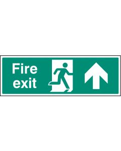 Fire exit - straight on Photoluminescent 450x150