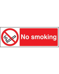 No smoking Rigid Plastic 600x200