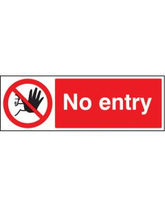 No entry Rigid Plastic 200x150