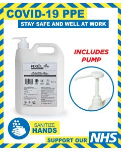 ALCOHOL HAND SANITISER GEL 5L INCLUDING HAND PUMP