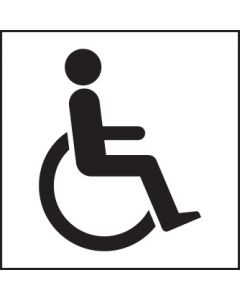 Disabled symbol Rigid Plastic 200x200