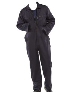 HEAVY DUTY ZIPPED NAVY BOILERSUIT