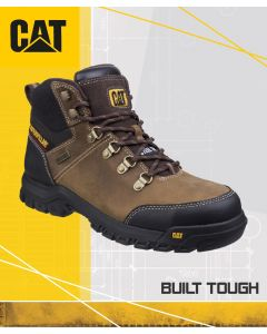 CAT FRAMEWORK BROWN SAFETY BOOT