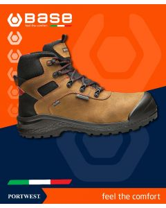 BASE BE-ROCK BROWN SAFETY BOOT S3