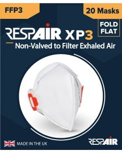 FFP-3: RESPAIR XP-3 FOLD FLAT MASK - 1 PACK OF 20