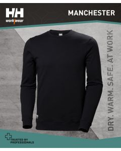 HELLY HANSEN MANCHESTER SWEATSHIRT - BLACK