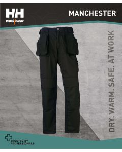HELLY HANSEN MANCHESTER CONSTRUCTION PANT TROUSER - BLACK