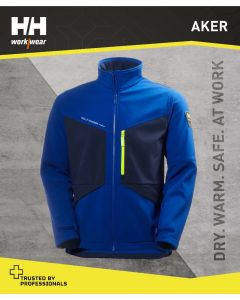 HELLY HANSEN AKER SOFTSHELL JACKET - COBALT BLUE
