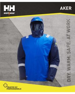 HELLY HANSEN AKER WATERPROOF SHELL JACKET - COBALT BLUE