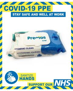 PACK OF HYGIENIC CLEAN HAND WIPES 72 PCs PER PACK