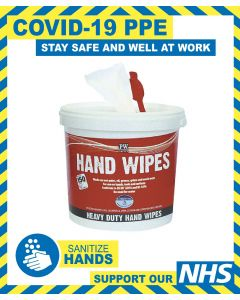 TUB OF HAND WIPES - 150 WIPES PER TUB