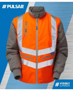 PULSARAIL PR498 GO/RT BODY WARMER INTERACTIVE HI VIS