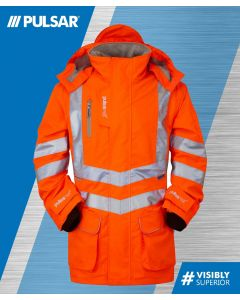 PULSARAIL PR499 GO/RT HI VIS BREATHABLE STORM JACKET