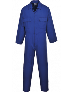 PORTWEST S999 POLYCOTTON ROYAL BLUE BOILERSUIT