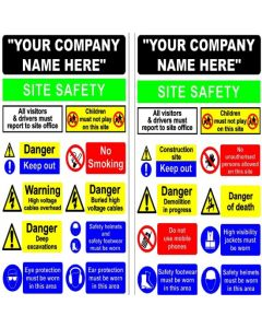 Site Entrance Safety Sign 1220x810mm