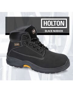 HOLTON - BLACK NUBUCK SAFETY BOOT S3