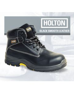 Holton - Black Leather Safety Boot S3