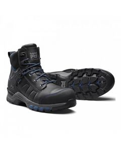 TIMBERLAND PRO HYPERCHARGE LEATHER BOOT - BLACK/TEAL