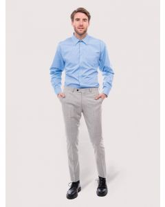 Uneek Men's Long Sleeve Poplin Tailored Fit Shirt