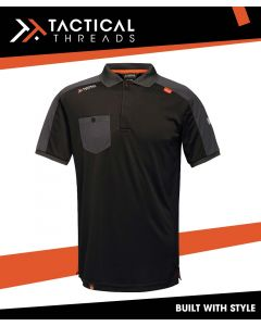 OFFENSIVE WICKING POLO SHIRT - BLACK