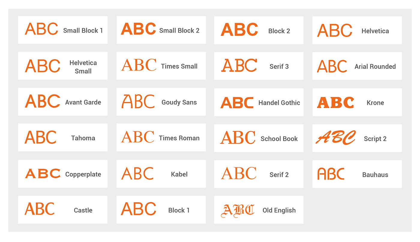 font-guide